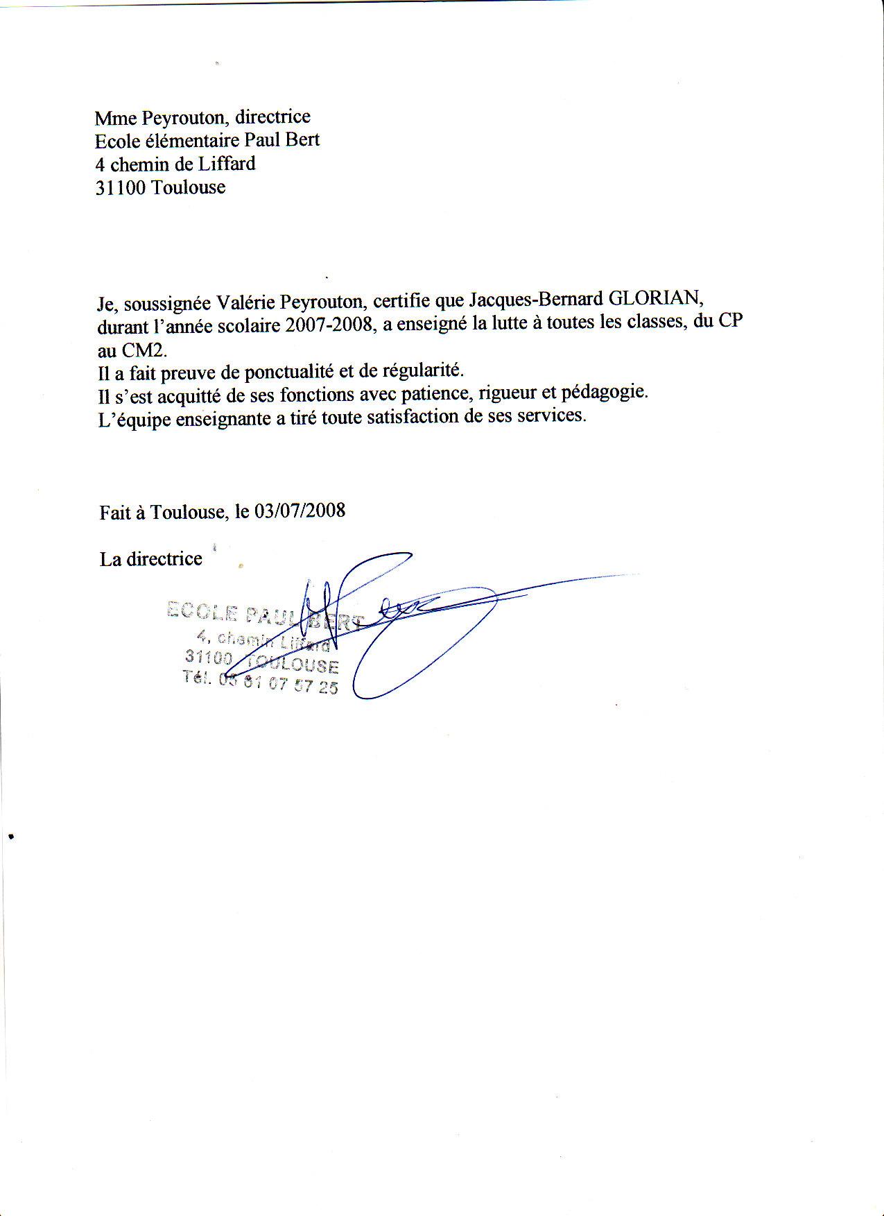 je soussigné lettre La lettre de recommandation je soussigné lettre
